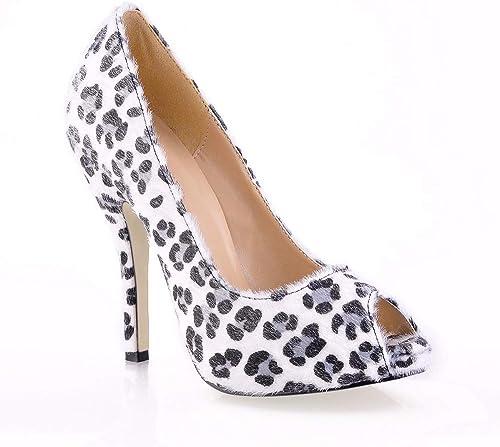 GRHWTAS Chaussures Nouvelles Femmes Peep Toe Toe Toe Plate-Forme Bureau De Travail De Bal Talons Super Chaussures à Talons Hauts pour Les Escarpins Les Les dames 734
