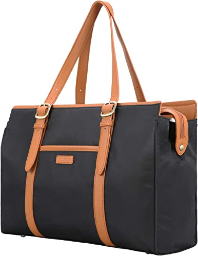 """discount ECOSUSI Laptop Tote Bag for Women Computer Briefcase Nylon Work sale Bag fit popular 15.6"""" outlet sale"""