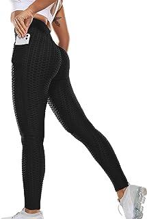 SLIMBELLE® Legging de Sport Anti Cellulite Push Up Butt Lift Pantalon de Compression Taille Haute pour Yoga Fitness Slim Fit