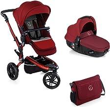 Jané Trider - Cochecito de bebe 2 piezas, silla de paseo de 3 ruedas y portabebé convertible matrix light 2, Unisex, Granate