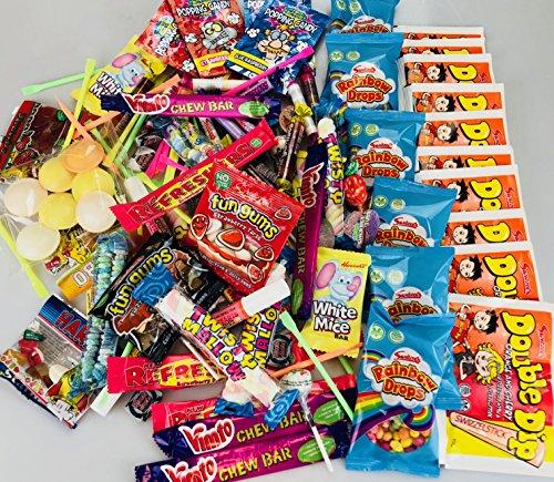Caja de 200 caramelos estilo retro mixto ideal para bodas, carros, piñatas, bolsas de botín para fiestas, caja de compartir, cine - noches de cine, para sus hijos