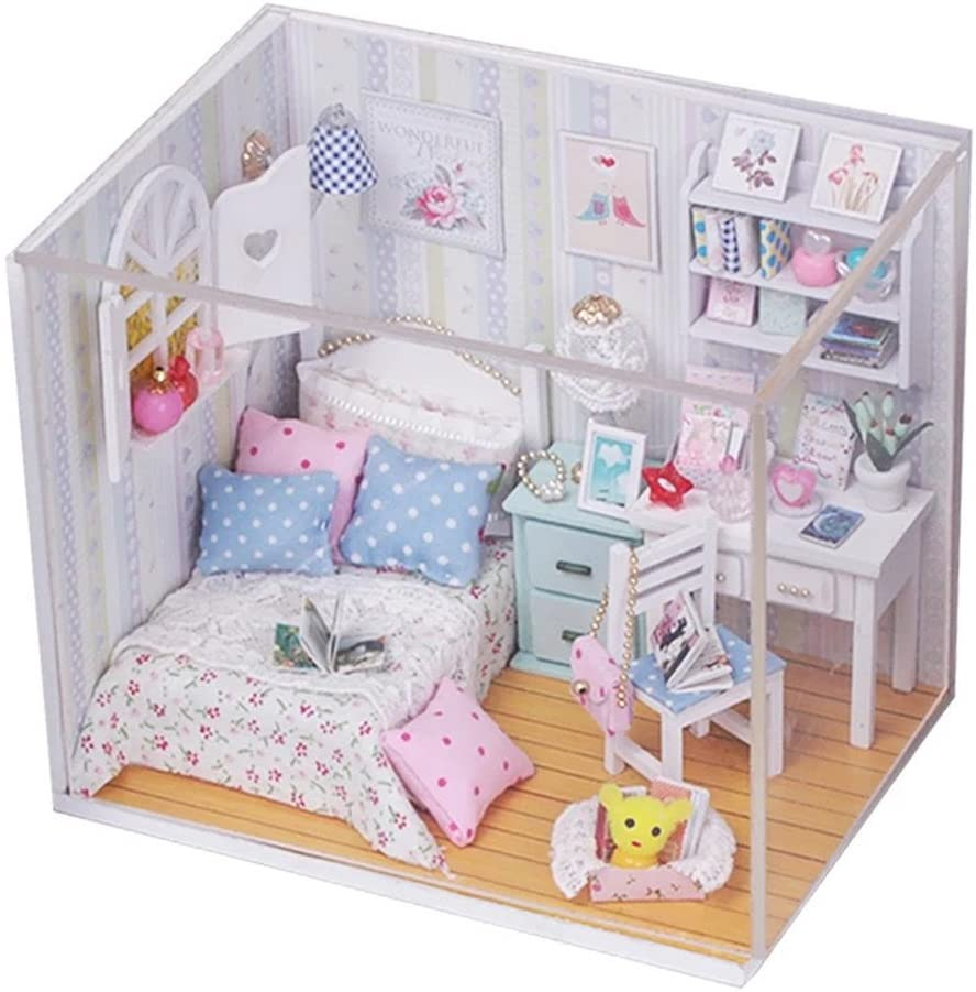 Flever Dollhouse Miniature DIY House Kit Room Creative Colorado Springs High quality Mall with Furn