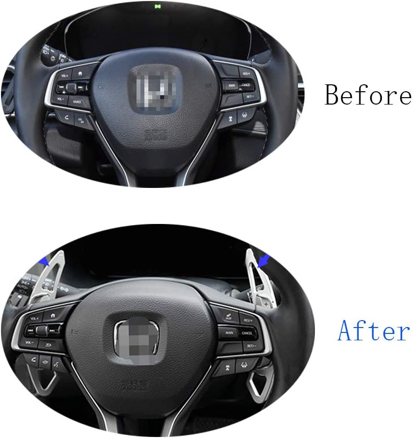 Ramecar Aluminum Alloy Paddle Shift Steering Wheel Shifter Extension for Honda Accord Odyssey Civic CR-V Spirior UR-V Acura CDX RDX ILX Red