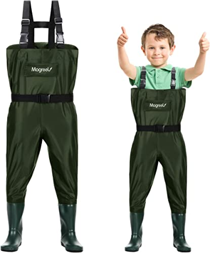 Magreel Kids Chest Waders Waterproof Nylon/PVC Youth Waders with Boots Fishing & Hunting Waders for Toddler & Childre...