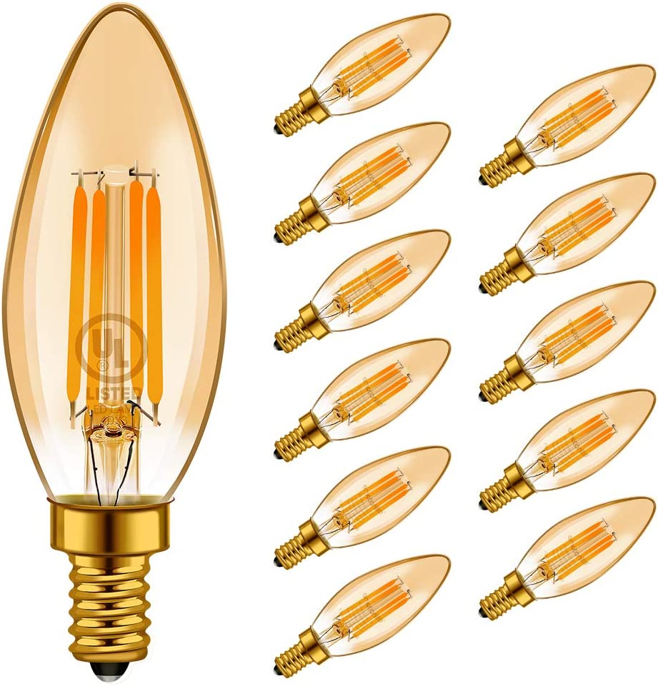 LED Light Bulbs Outstanding Emotionlite Base E12 Candelabra Classic Dimmable