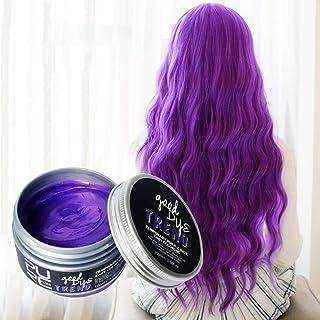 SILUN ファッションウォッシャブル7色ヘアカラーポマードワックスマッド染料スタイリングクリーム使い捨てdiyヘアカラーワックス 染毛剤