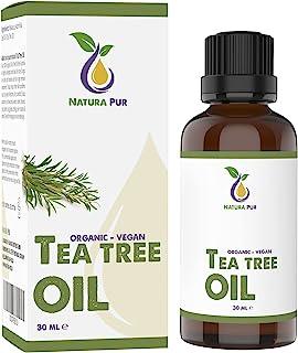 Tea Tree Oil Organic 30ml - 100% naturlig eterisk olja från Australien, vegan - Tea Tree Olja för användning på fläckig hu...
