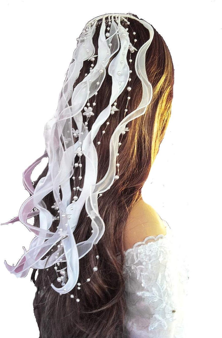 Kopfschmuck Braut Tiara Haardraht Haarranke Haarschmuck Hochzeit Kommunion  g10