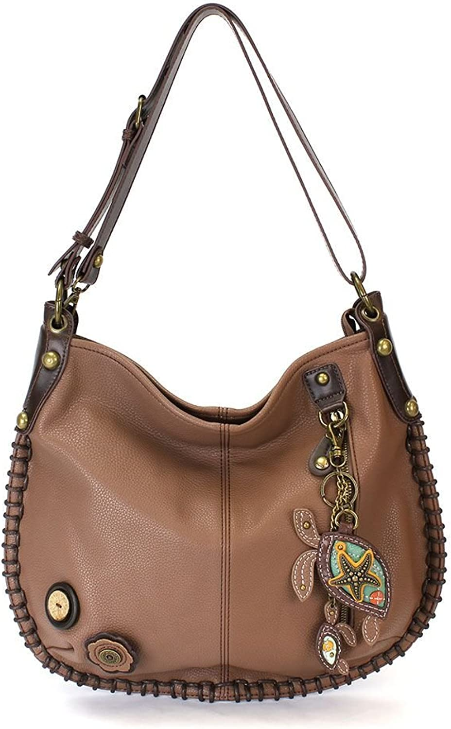 Chala Extra Large Charming Hobo Xbody with Adjustable Strap Sea Turtle   Brown