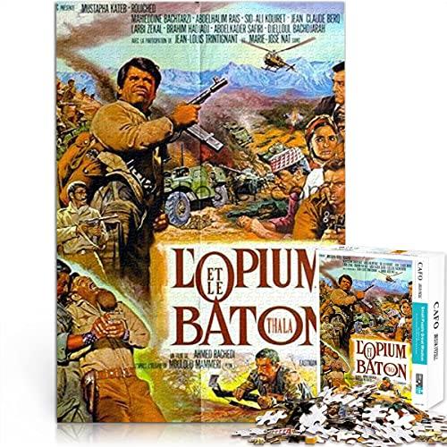 ZKSB Puzzle de Personajes 1000 Piezas L'opium et le Baton 1000 Piezas póster Rompecabezas póster Rompecabezas El Rompecabezas Perfecto Regalo de cumpleaños 75x50cm