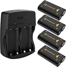 Smatree Rechargeable Battery 2600mAH Compatible for Xbox One/Xbox One S/Xbox One X/Xbox One Elite Wireless Controller(4 Packs)