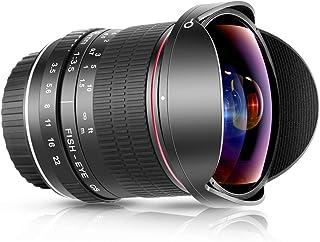 Neewer 8mm F/3.5 Ultra Grandangolare Rettangolare Obiettivo Fisheye Messa a Fuoco Manuale per APS-C DSLR Nikon D500 D3200 ...