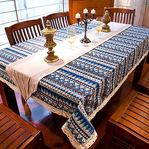 WEWEWEWEWEE tafelkleden, laken van katoen, retro-stijl, bohemian-stijl, tafelloper, decoratie, voor tuintafel, café, bar