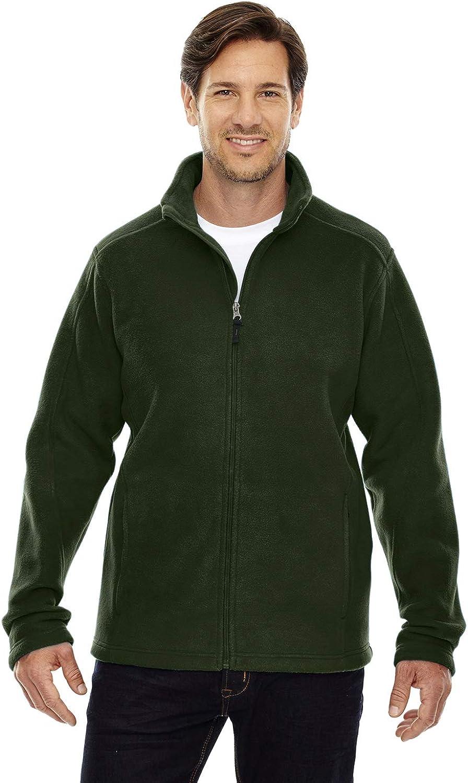 Ash City Mens Journey Core 365 Fleece Jacket (Medium, Forest Green)