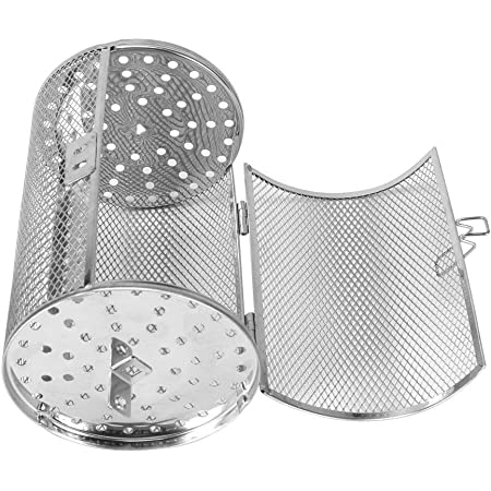 Stainless Steel Rotisserie Grill Kitchen Oven Basket Roaster Drum