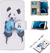 J7 Case, UrSpeedtekLive Galaxy J7 Wallet Case, Premium PU Leather Flip Wallet Case Cover w/Card Slots & Kickstand Compatible with Samsung Galaxy J7, Boxing Panda