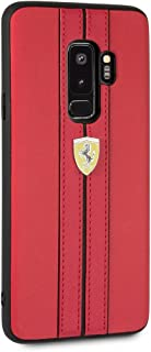 CG Mobile Ferrari Pu Leather Case for Samsung Galaxy S9 Plus Hard Cell Phone Cover with Contrasting Cover Officially Licen...