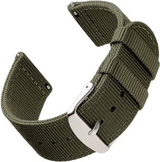 | Repuesto de Correa de Reloj de Nailon para Hombre y Mujer, Correa Fácil de Abrochar para Relojes y Smartwatch, 18mm, 20mm, 22mm