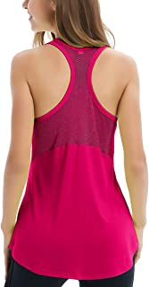 Fihapyli Women's Sleeveless Yoga Shirts Workout Tank Tops Actives Breathable Mesh Backless Tank Yoga Tops