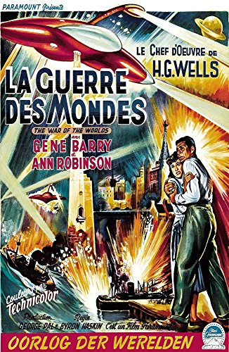 The War Of The Worlds (Aka La Guerre Des Mondes) From Left Ann Robinson Gene Barry 1953 Movie Poster Masterprint (24 x 36)