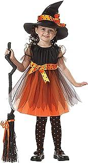 ShiyiUP Disfraces Vestido de Bruja Diablo para Niñas