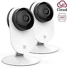 YI Home Cámara IP 1080P WiFi Cámara de Vigilancia Interior con Detección de Movimiento, Notificaciones Push, Audio bidireccional, Visión Nocturna, Smart Cámara para Teléfono/PC, Kit de 2