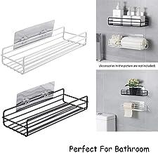 ADTALA New Version Updated Design Hot Selling Shelf Organizer Storage Hanging Shower Caddy Rack Self Adhesive Shelf Organizer Storage Hanging Rack for Bathroom (Size No-53-Plain Shelves)