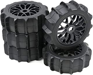 5pc RC 1/8 Snow Sand Paddle Tires Buggy Tyres & Wheel Hex 17mm for 1:8 Buggy Car