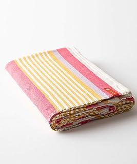 Halfmoon Beach Stripe 100% Cotton Yoga Blanket: Ideal for Meditation, Travel, Camping, Throw Blanket, or Yoga Rug