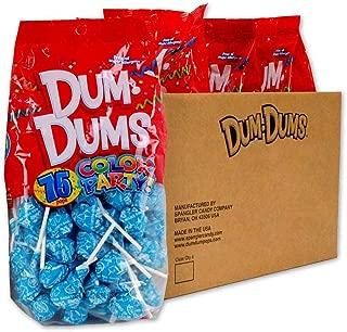 Dum Dums Ocean Blue Cotton Candy 4-75 count bags