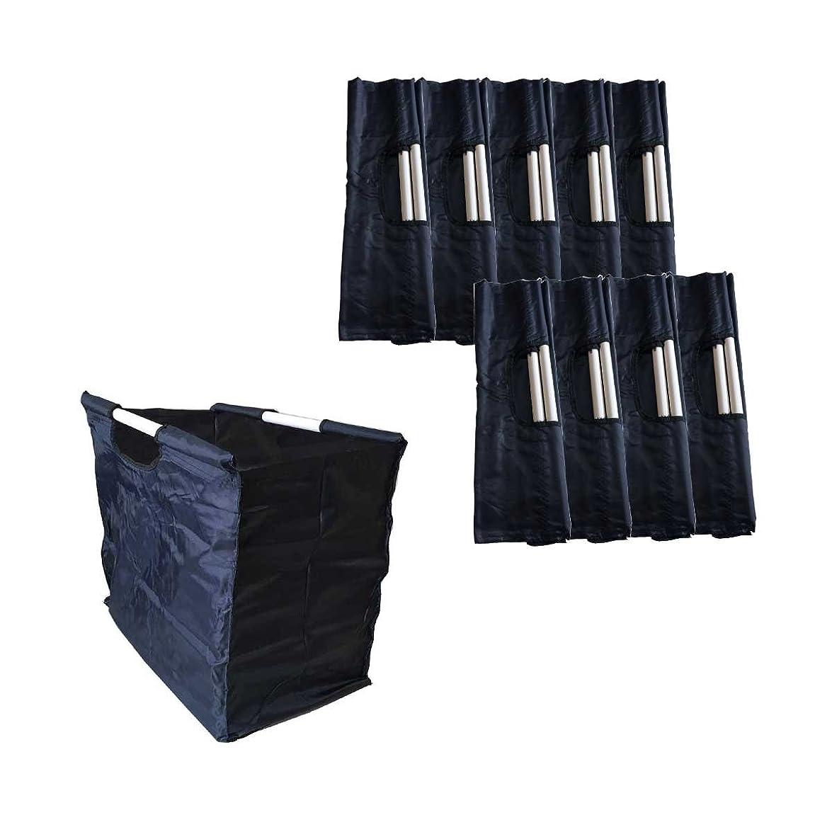 差別的クアッガ敬意を表するオリタニ ロットワゴン&バッグ ロットバック 10枚セット ブルー 02120110
