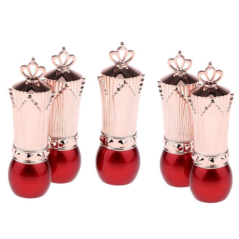 浴室八百屋読みやすさP Prettyia 5本 かわいい 口紅容器 空 リップクリームチューブ サンプルコンテナ 全2色 - 赤