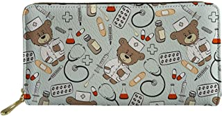 Woisttop, portafoglio da viaggio in pelle PU per donne ragazze carino animale multi-carta titolare frizione borsa borsa