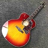 YYYSHOPP Guitarra Guitarra acústica acústica acústica acústica de 43 Pulgadas acústica con patrón de Resplandor Solar y cáscara Dura (Color : Guitar, Size : 43 Inches)