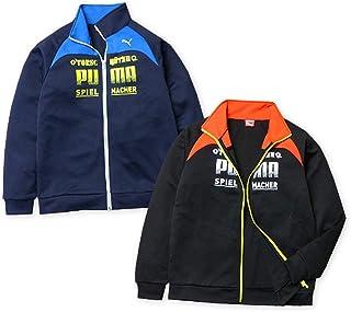 子供服 男の子 アウター フルジップ ジャケット PUMA プーマ 吸水 速乾素材 紫外線防止 男児 ジュニア