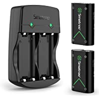 2-Pack Smatree Rechargeable Battery with Charger for Xbox Series X/S/Xbox One/Xbox One S/Xbox One X/Xbox One Elite Wireless Controller