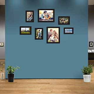 Art Street Synthetic Wood Wall Photo Frame (Black_1 Unit: 4 X 6 Inch , 4 Units: 5 X 7 Inch, 2 Units: 8 X 10 Inch)