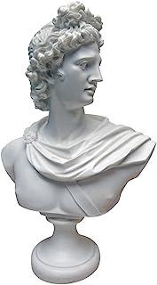Design Toscano PD72520 Apollo Belvedere Bust Statue, 12.5 Inch, White