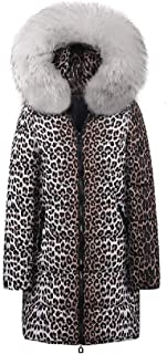 Howely Women Puffer Cotton Padded Faux Fur Collar Long Coat Winter Fall Parka