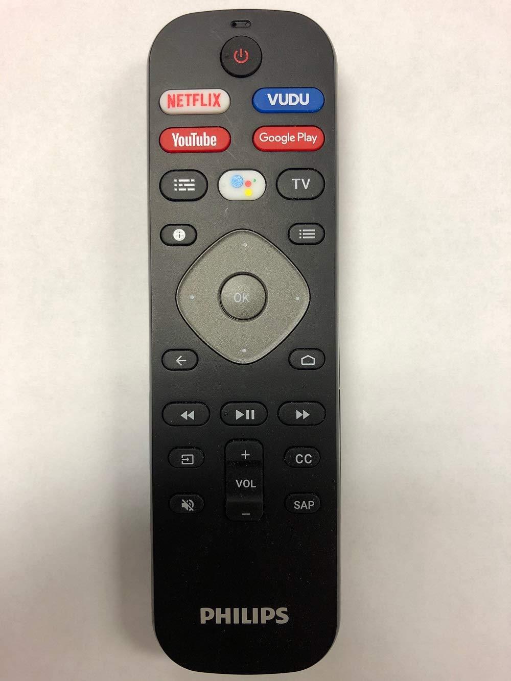 50PFL5704//F7 65PFL5504//F7 43PFL5704//F7 65PFL5604//F7 Philips NH800UP Android TV Remote /& Google Voice Assistance 43PFL5604//F7 65PFL5704//F7 50PFL5604//F7 55PFL5604//F7 55PFL5704//F7