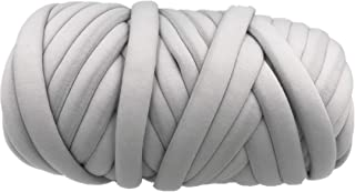 Super Thick Chunky Vegan Cotton Yarn, Chunky Acrylic Bulky Big Roving Washable Soft Jumbo Tubular Yarn for Arm Knitting Ho...