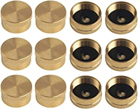 ShowNew 12PCS Universal Solid Brass Cap Refill 1 LB Propane Bottle Gas Tank Cylinder Protect Sealed Caps
