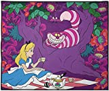 Jay Franco Disney Alice in Wonderland Always Tea Time Kids Room Rug - Large Area Rug Measures 4 x 5 Feet - Features The Cheshire Cat (Offical Disney Product)