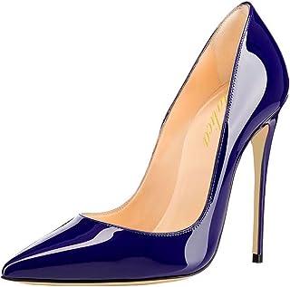 sitio de buena reputación a079f c693c Amazon.es: tacones charol - Azul / Zapatos de tacón ...
