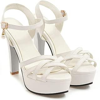 Zalin Big Size 33-43 Fashion Summer Shoes Woman Elegant Shoes Buckle Platform Super high Sandals