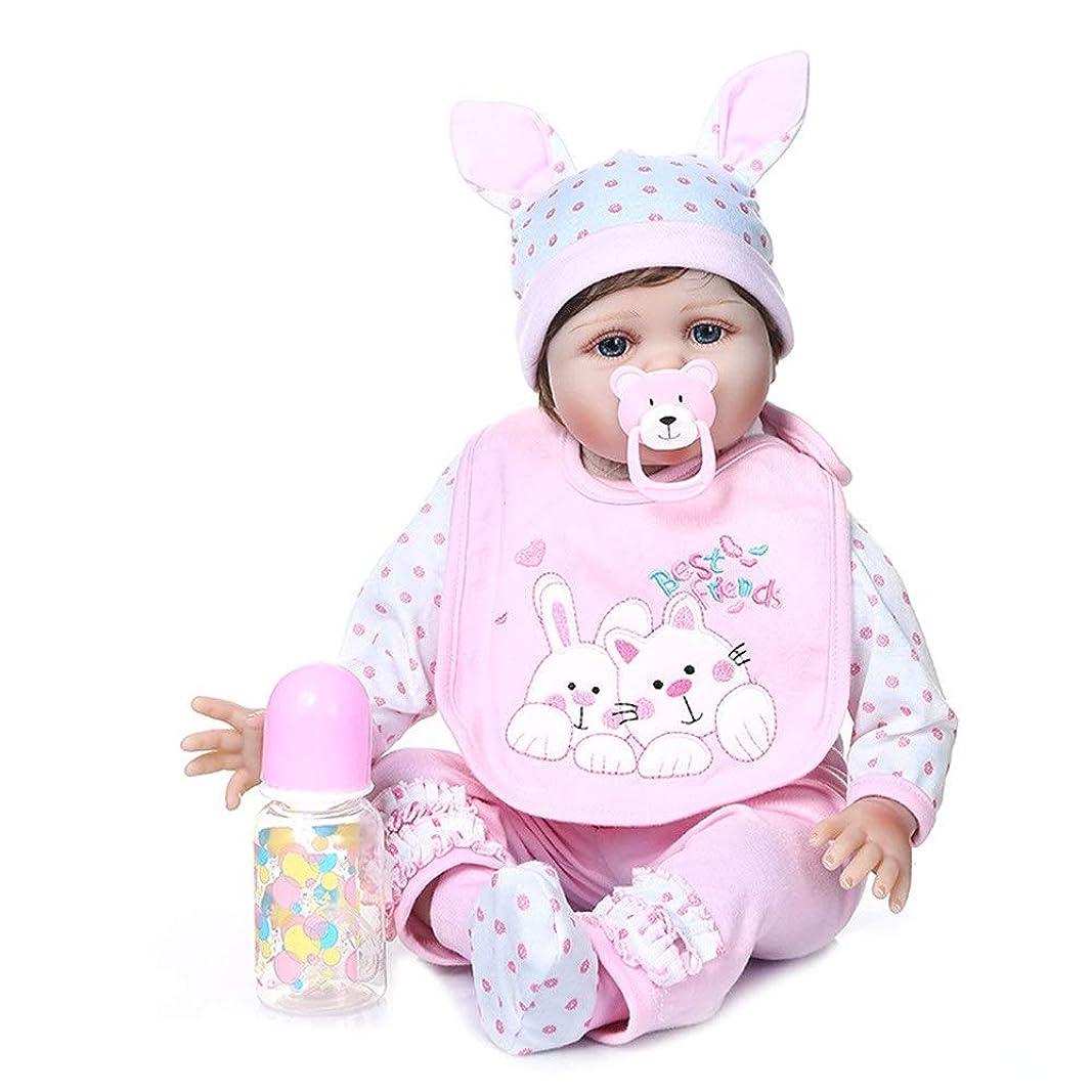 普遍的なスクラブよろめくかわいい模擬赤ちゃん人形はお子様の リアルな人形リボーンベビードールオープンアイズ22インチ55センチメートル実ソフトシリコン人形 最高な贈り物でしょう (Color : Photo Color, Size : 55cm)