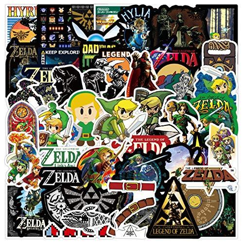 Pegatinas de juego The Legend of Zelda para ordenador portátil, 50 unidades, para adolescentes, teléfono, monopatín, coche, motocicleta, equipaje, PS4, habitación de niños, calcomanías impermeables
