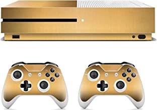 Gold Stickers For Xbox One Slim Controllers Console Gamepad Vinyl Skin Decals Cover Sticker Simple Elegant Protector,0672