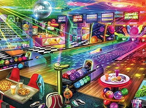 Buffalo Games - Aimee Stewart - Blacklight Bowling - 1000 Piece Jigsaw Puzzle