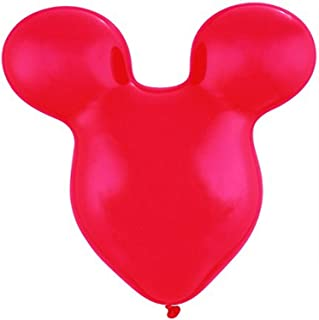 "Qualatex Mouse Head Latex Balloons, 15"", Standard Red"